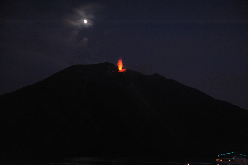Sciara di Fuoco, Eruption in Stromboli
