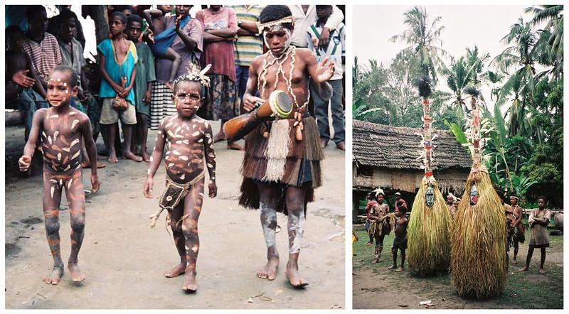 <b>Various Local Villages Rituals & Celebrations</b>  Sepik River, Papua New Guinea