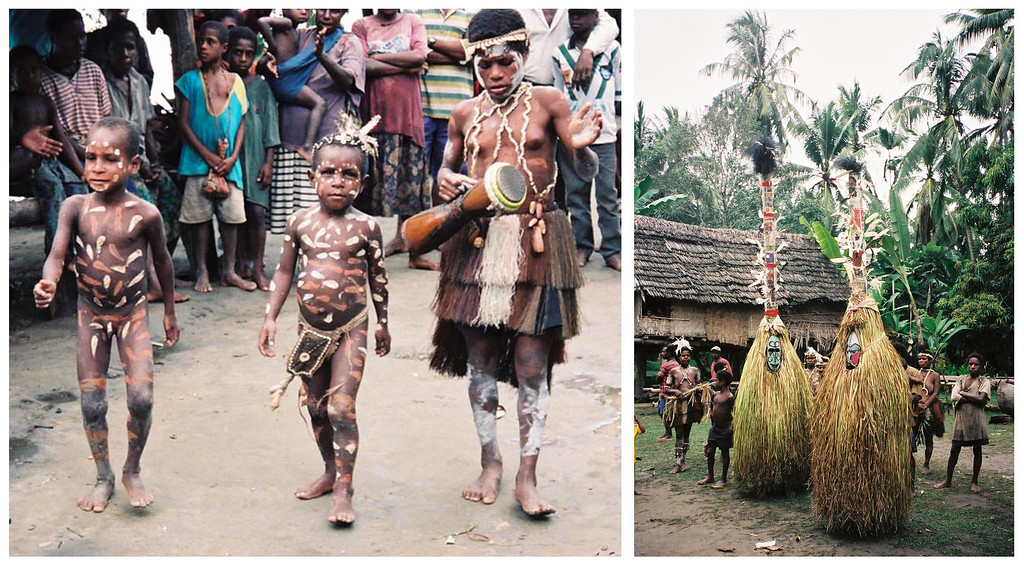 <b>Various Local Villages Rituals & Celebrations</b>  Sepik River, Papua New Guinea