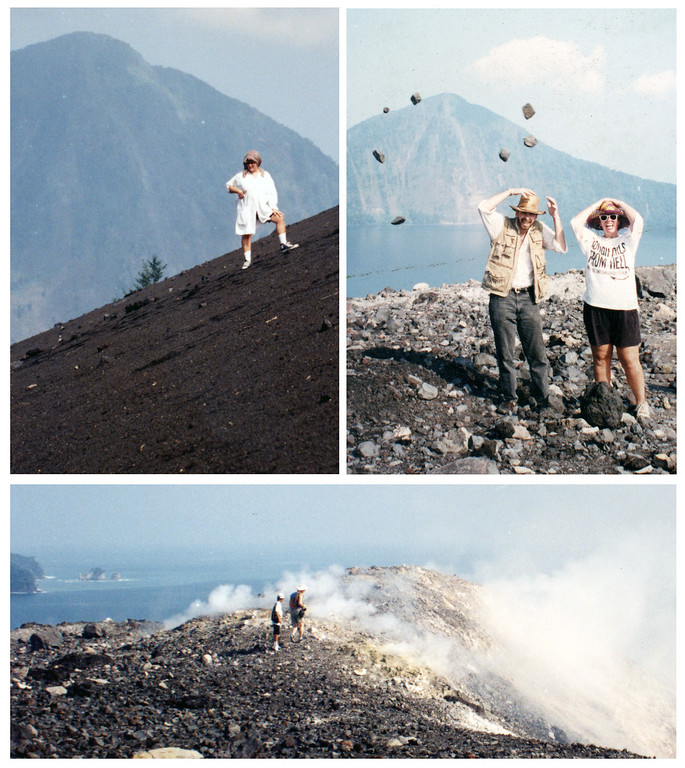 """<b>Best Group Trip Anak Anak Krakatoa, Sumatra/Java, Indonesia – 1991</b>  An """"expedition"""" I put together with 16 friends to scale the summit of Krakatoa.  12 of us made it the top caldera, after several hours of ups and downs on the scrabbly rock and cinder cones.  The 4 hour boat journey from the west coast of Java was a particularly arduous on the night time return, through rough seas and foul weather."""