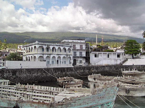 <b>Saddest, Poorest Moroni, Comoros, Indian Ocean - 1991</b>  A dishearteningly poor and destitute place.  Very, very sad.  Even the goats roaming this capital city appear inconsolably malnourished.