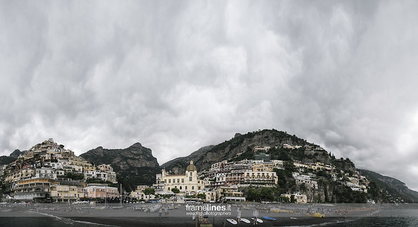 Panoramic view of Positano