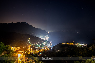 Ravello Landscape night photography