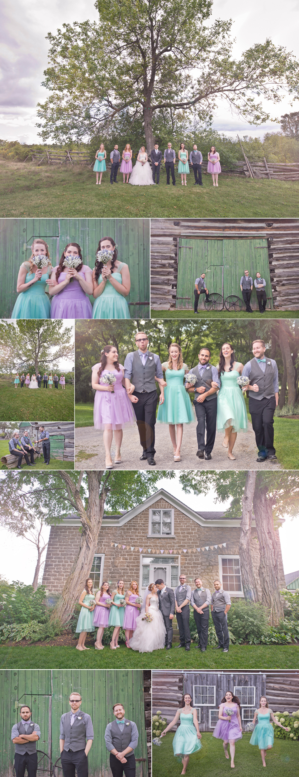 Montreal Wedding Photographer and Videographer| Stonefields Heritage Farm | Carleton Place Ontario | Bridal Party | LMP Wedding Photography and Videography