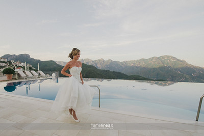 Infinity Pool Bride Portrait