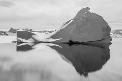 Ice Berg in B&W. Antarctica
