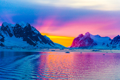 Sunset. Antarctica
