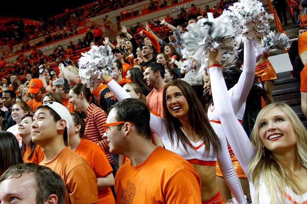 Oklahoma State University Cowboys vs Kansas State University in NCAA Men's Basketball in Stillwater, Ok on March 3, 2014. Photos by Mitchell Alcala/Ostatephoto.com