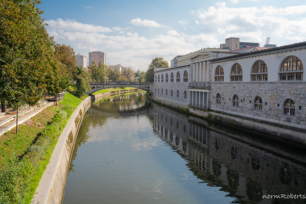 Ljublianica River and the Central Market