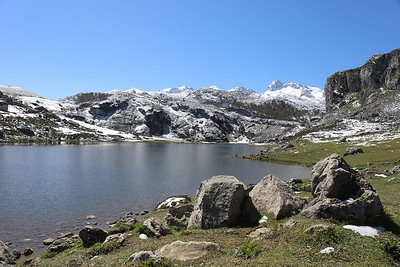 Lake Ercina with snow