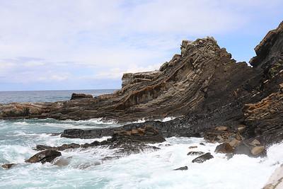 Rock formations at Ribadesella