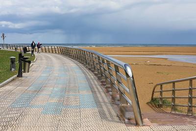 Stainless steel railings at La Griega