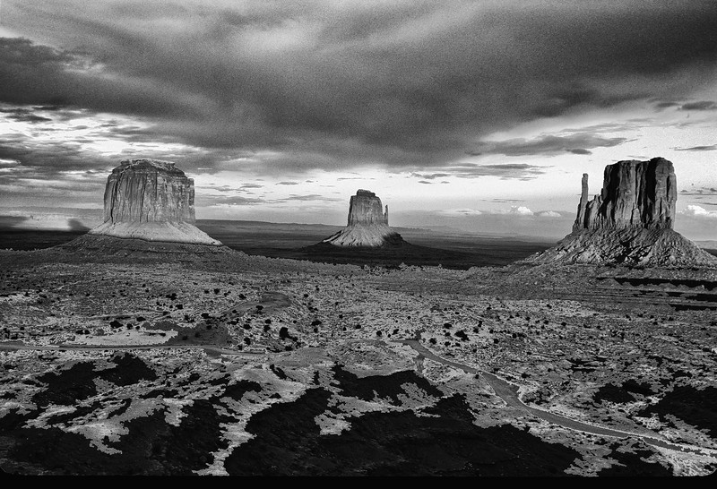 Monument Valley  three buttes AZ