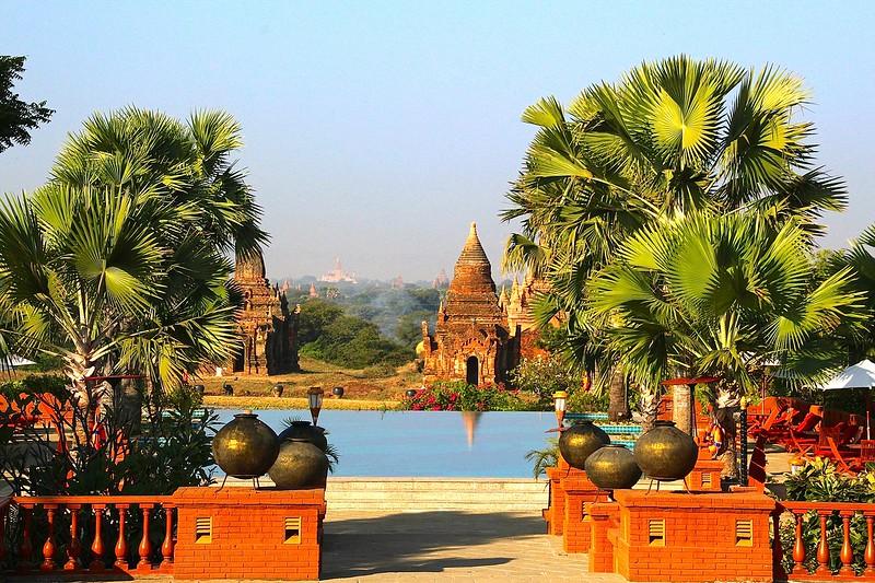 Poolside in Bagan