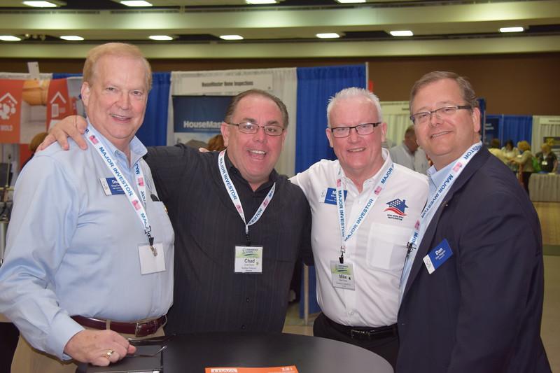 Illinois REALTORS® President Doug Carpenter, member Chad Doyle, Immediate Past President Mike Drews, and Treasurer Dan Wagner