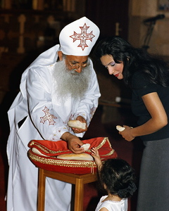 Distribution of Blessed Bread at St. Mark Coptic Orthodox Church (Troy, MI)