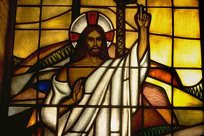 Stained Glass Depiction of Jesus (NJ)