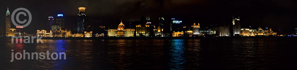 Shanghai's Bund district from the Huangpu River