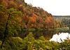 Fall color on one of the Plitvice Lakes.