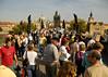 Weekend crowds on the Charles Bridge