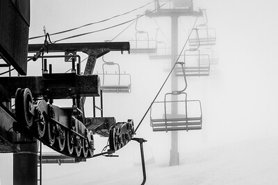 Chair 7 on a foggy morning