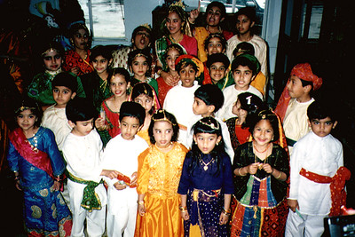 Jain Children Preparing for a Performance (San Francisco, CA)