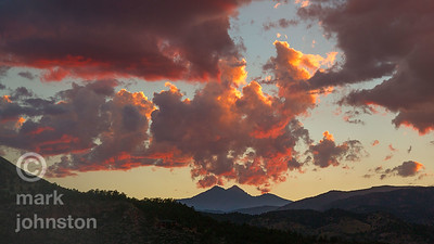 Sunset over Lyons, Colorado