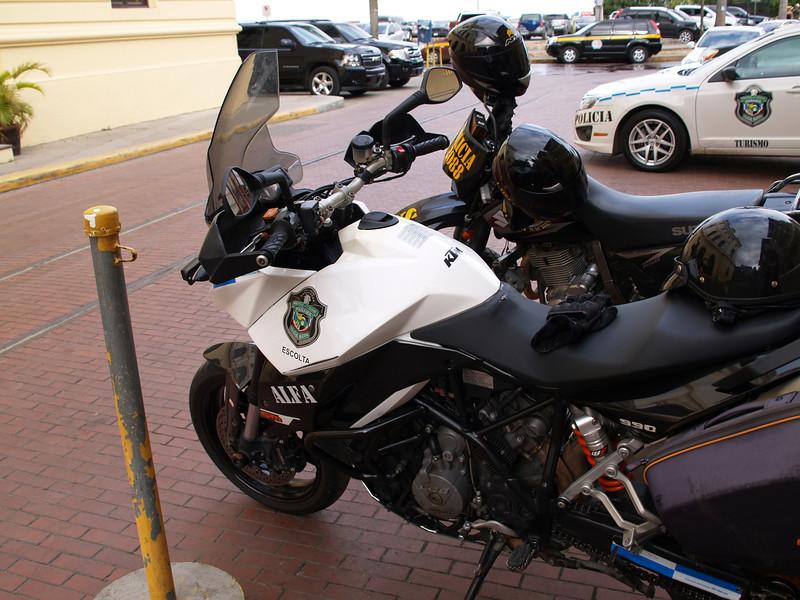 Police bikes, Panama