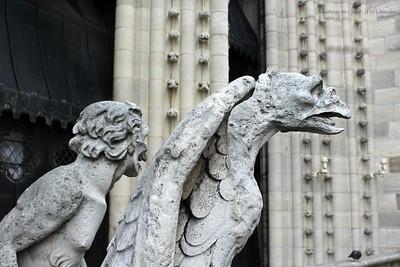Gawping Gargoyles Atop Notre Dame de Paris, France