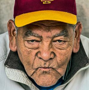 native american from the square in santa fe