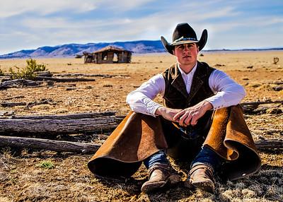 Cowboy at the Silverton Ranch New Mexico