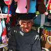Chilean vendor in the market at Valparaiso