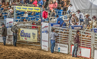 Waiting for the bronco riding Parada del Sol Rodeo Scottsdale Arizona 2 March 2014 _