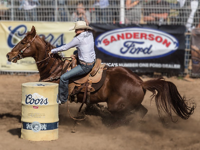 barrel racing girl at Cave Creek Rodeo 30 March 2014