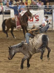 Cowboy hang on Parada del Sol Rodeo Scottsdale Arizona 2 March 2014 _