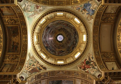 The Gorgeous Domed Ceiling of Sant'Andrea Della Valle in Rome, Italy