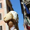 Delicious Dulce de Leche and Stracciatella Gelato Near the Trevi Fountain in Rome, Italy