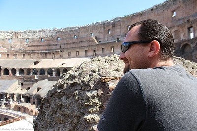Dan Enchanted by the Colosseum in Rome, Italy