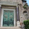 The Temple of Romulus at the Roman Forum, Italy