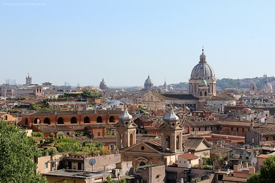 A Breathtaking View of Rome from the Borghese Gardens