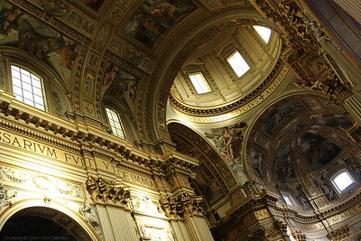 The Stunning Gilded Interior of Sant'Andrea Della Valle, Rome, Italy