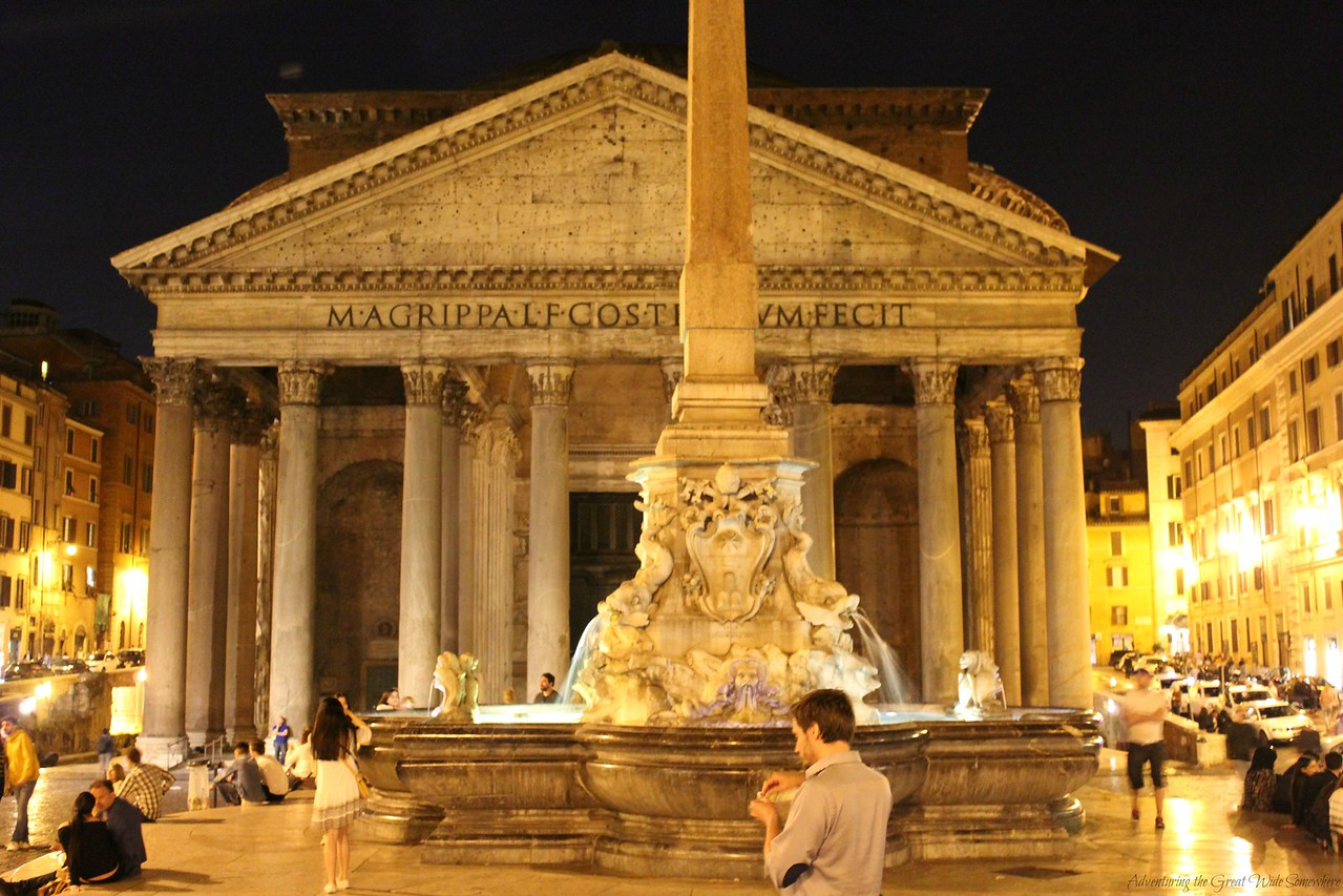 The Pantheon by Night, Rome, Italy