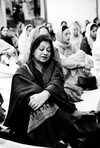 Woman Meditating to the Guru Granth Sahib (New England)