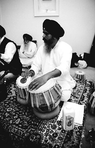Sikh Musician Playing The Tabla (New England)