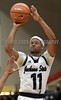 JSU's Jeremiah Jefferson (11) shoots against Millsaps on Friday, November 10, 2017, at Jackson State University in Jackson, Miss.