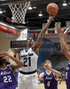 JSU's Demetrice Clopton (21) puts back a rebound against Millsaps on Friday, November 10, 2017, at Jackson State University in Jackson, Miss.