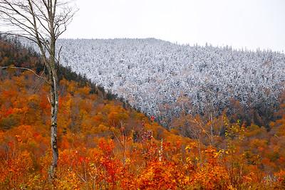 Winter vs. Autumn on West Kennebago Mountain