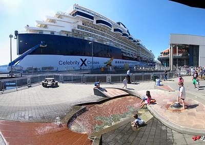 Cruise ship at Pier 66