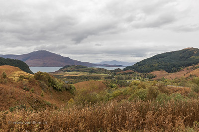 View over the sea to Skye