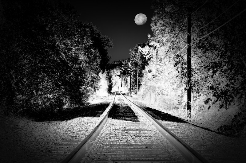 Moon over Rail